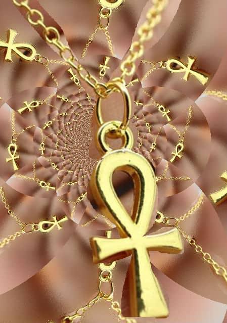 cruz egipcia de oro